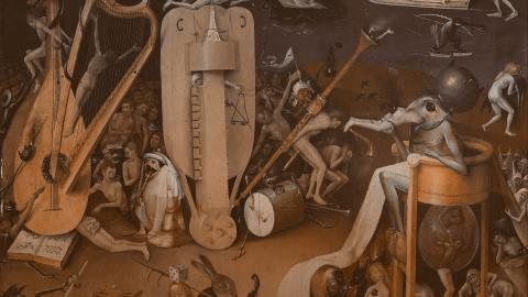 Picture of The Garden of Earthly Delights (Hell) (detail), Hieronymous Bosch.