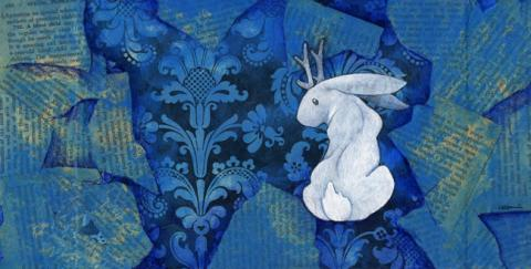 Picture of White Jackalope III by Ursula Vernon