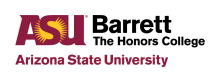 Logo for Barrett, the Honors College at Arizona State University
