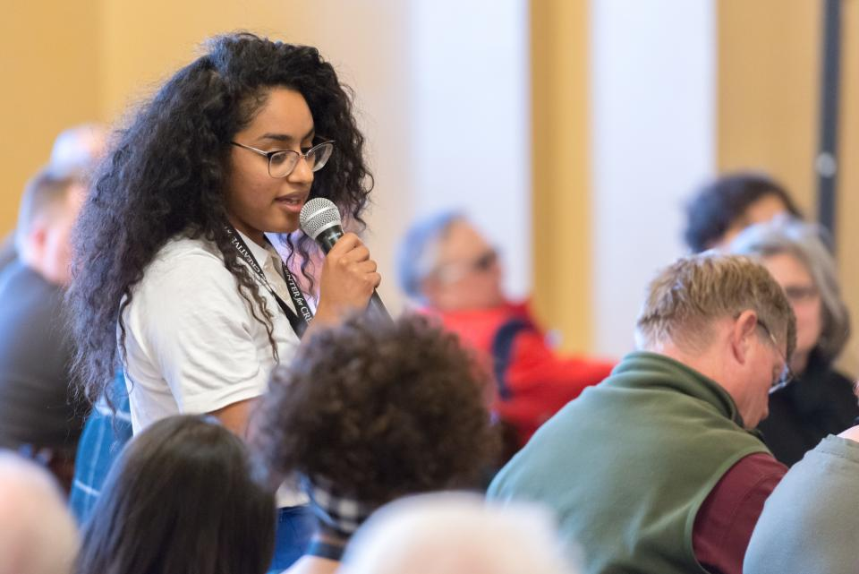 ASU Student Raquel Denis at Desert Nights Rising Stars Writers Conference 2018 credit Kevin S Moul