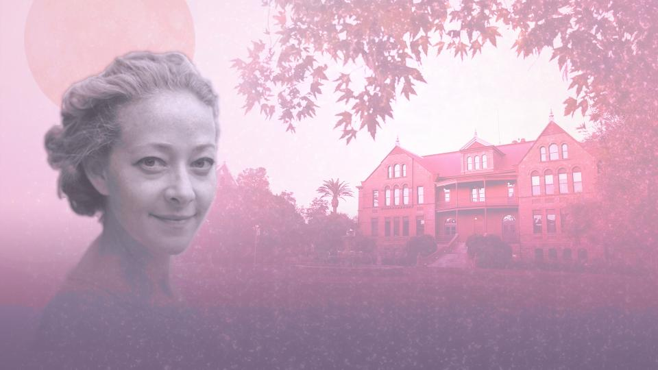Picture of Ramona Ausubel in front of Old Main
