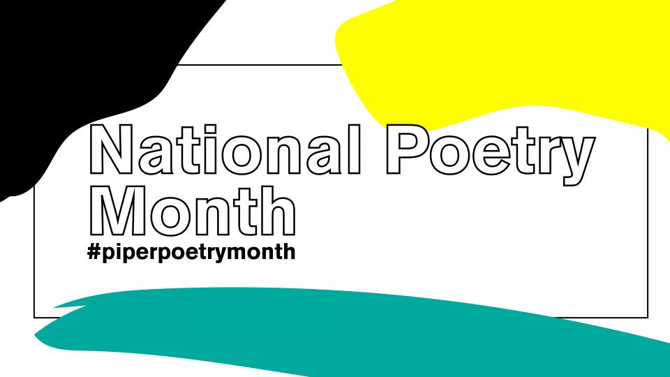 Banner for Poetry Month