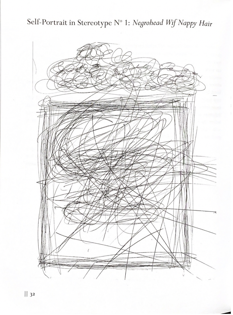 """Picture of Jonah Mixon-Webster's """"Self-Portrait in Stereotype N° 1: Negrohead Wif Nappy Hair"""""""