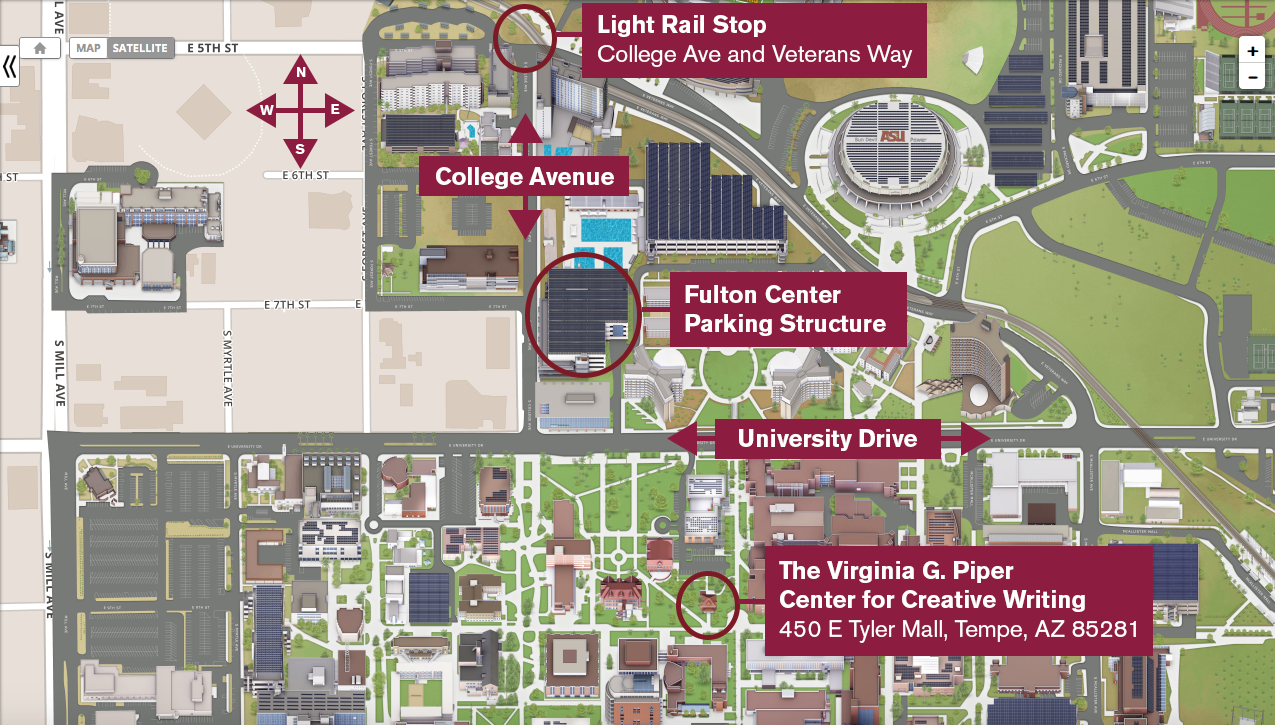 Map of the Piper Center at ASU