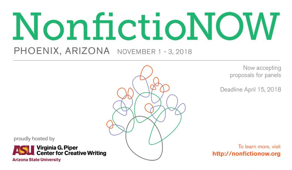 Postcard for 2018 NonfictioNOW Conference Nov 1 - 3, 2018